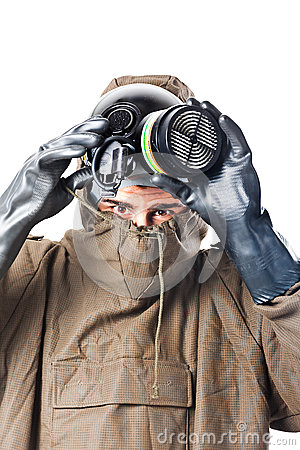 Taking off the gas mask