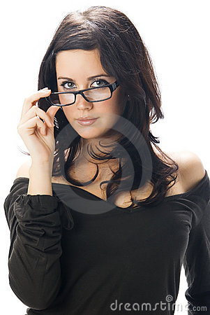 Free Taking Off Glasses Royalty Free Stock Photography - 4700257