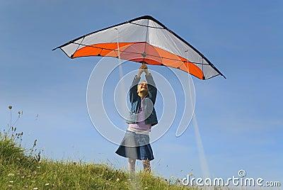 Taking off the kite