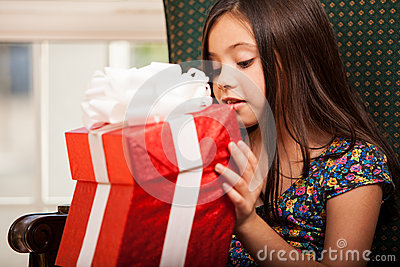 Taking a peek at a present