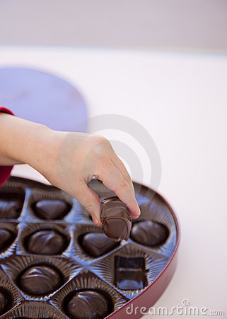 Taking Some Chocolate Stock Images - Image: 7971774