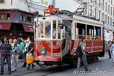 Taksim Bucholic Tram Istanbul Editorial Photo