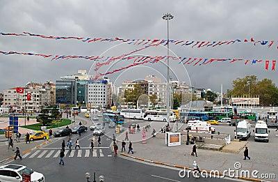 Taksim Square, Istanbul Editorial Stock Image