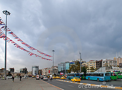 Taksim Square, Istanbul Editorial Stock Image