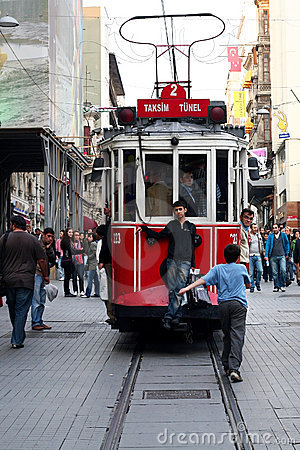 Taksim Square Tramway Editorial Stock Image