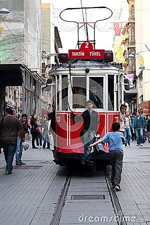 Taksim Square Tramway Editorial Stock Image