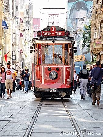 Taksim-Tunel tram Editorial Image
