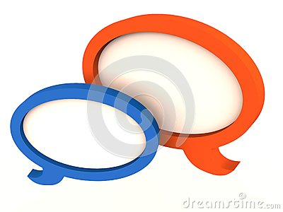 Talk bubble speech communication