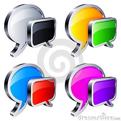 Free Talk Bubbles. Stock Image - 15028621