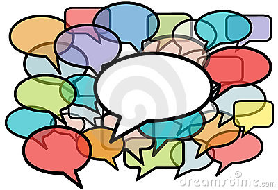 Talk In Colors Speech Bubbles Social Media Royalty Free Stock Image - Image: 15052626