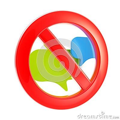 Talk conversation forbidden sign