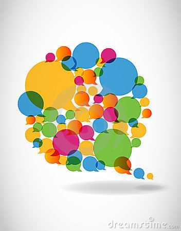 Free Talk In Colors Speech Bubbles Social Media Stock Images - 23598884