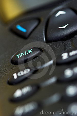 Talk key on a cellphone