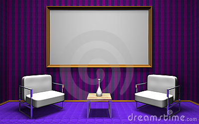 Talk show room