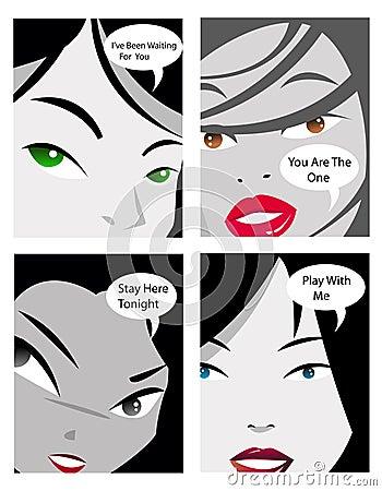 Talking comic girls