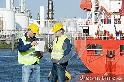 Talking Harbor workers