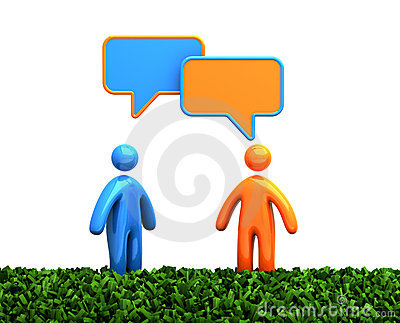 Talking human figures