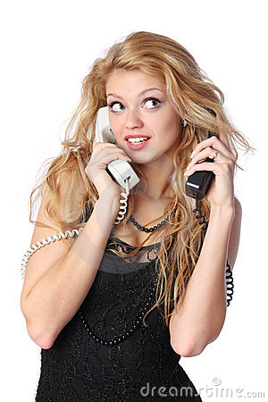Free Talking On Phone Royalty Free Stock Photo - 13425995