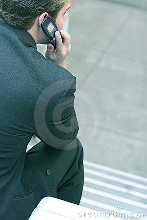 Free Talking On The Phone Stock Image - 69901
