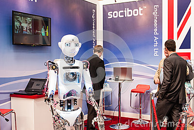 Talking Robot, CeBit 2014 Editorial Image