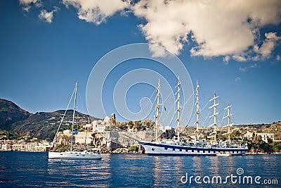 Tall 5-mast ship