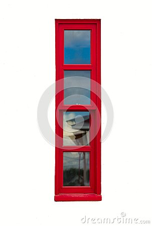 Free Tall And Narrow Red Window Royalty Free Stock Image - 99476726