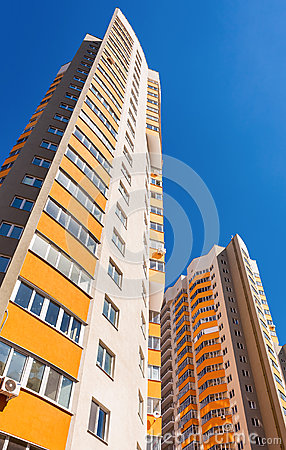 Free Tall Apartment Buildings Under Construction Against A Blue Sky B Royalty Free Stock Photography - 50502937