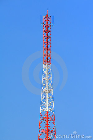 Tall broadcast wave tower