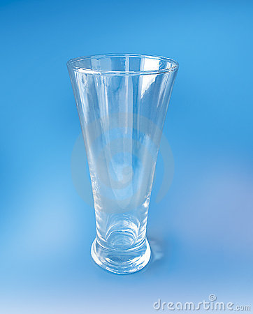 Tall Cocktail Glass On Blue Background