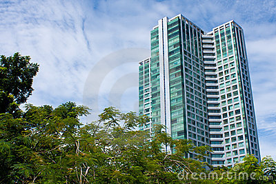 Tall condominium or apartment
