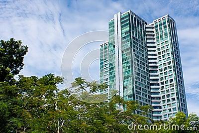 Tall condominium or apartment