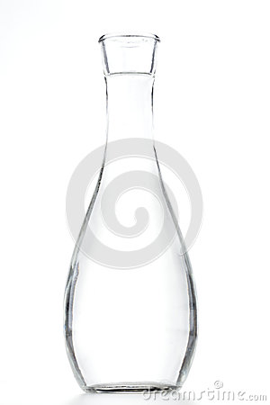 Free Tall Curved Glass Vase Stock Photography - 81942242