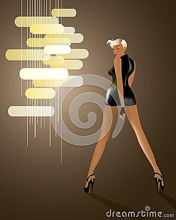 Tall Disco Girl