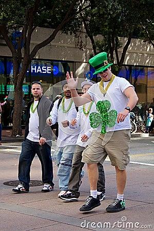 Tall Guy at San Francisco Saint Patrick s Parade Editorial Image