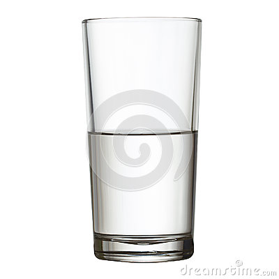 Free Tall Half Full Glass Of Water  W Clipping Path Stock Photos - 29005303