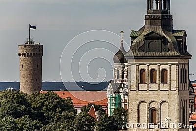 Tall Hermann Tower and Churches