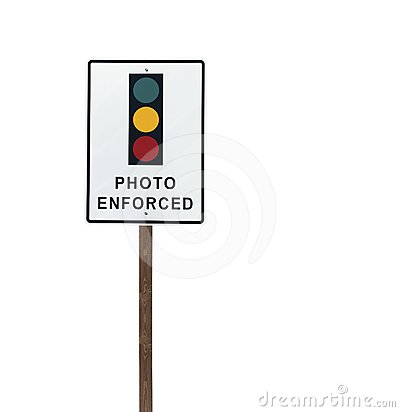 Tall Isolated Photo Enforced Signal Sign