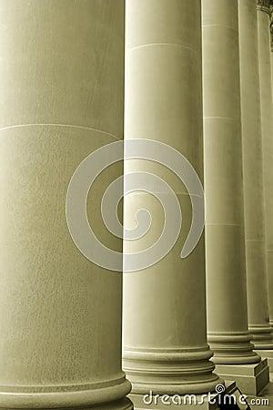 Tall large pillars