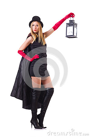 Tall model with lantern
