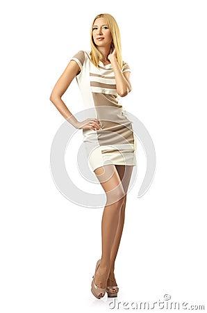 Tall model  on white