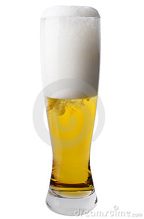 Tall Pilsner Glass of Beer