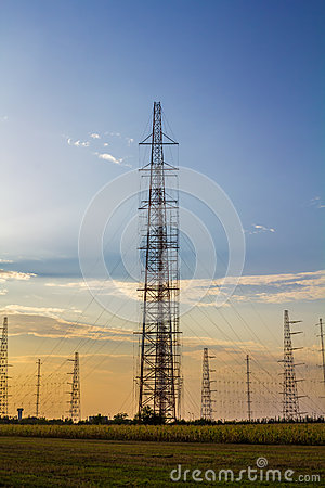 Tall radio antennas