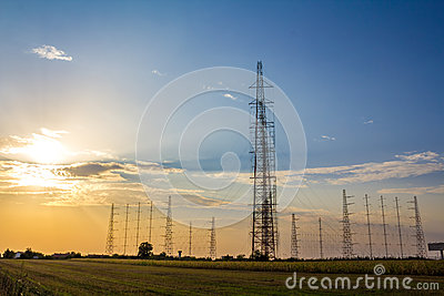 Tall radio antennas
