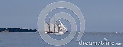 Tall sailing ship