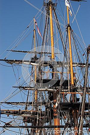 tall sailing Ship riggings