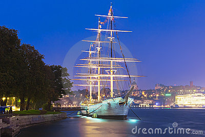 Tall ship   AF Chapman   in Stockholm, Sweden