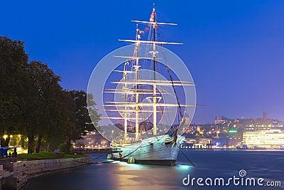 Tall ship   AF Chapman   in Stockholm, Sweden