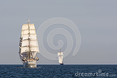 Tall ship Christian Radich from astern Editorial Image