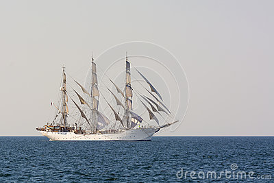 Tall ship Christian Radich sailing Editorial Stock Photo