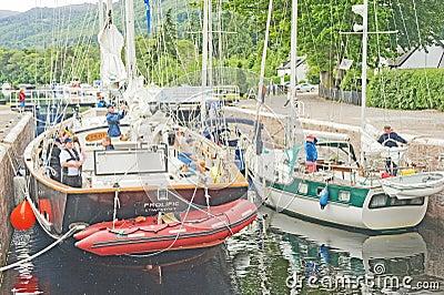 Tall Ship at Dochgarroch. Editorial Stock Photo